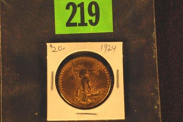 "219: U.S. Saint-Gauden's $20 ""Double Eagle"" Gold Coin 1"