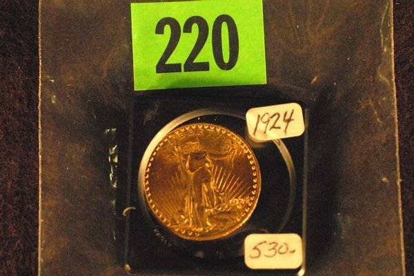 "220: U.S. Saint-Gauden's $20 ""Double Eagle"" Gold Coin 1"