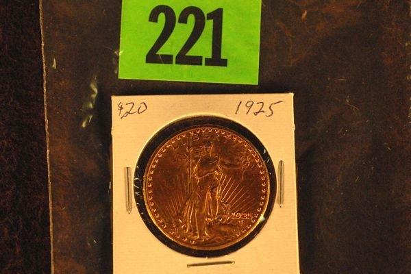 "221: U.S. Saint-Gauden's $20 ""Double Eagle"" Gold Coin 1"