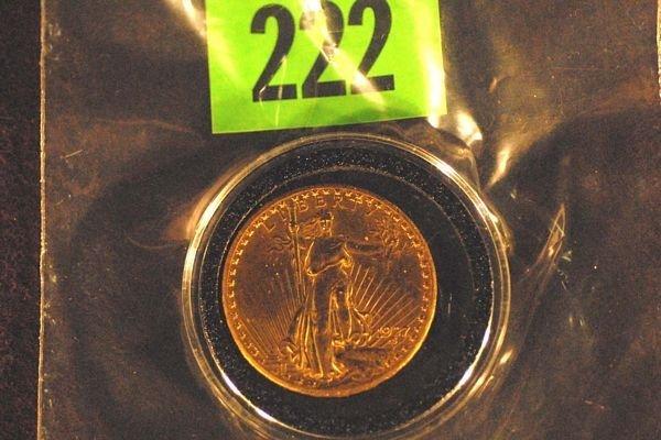 "222: U.S. Saint-Gauden's $20 ""Double Eagle"" Gold Coin 1"