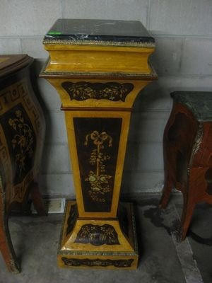2: French Style Pedestal with Marble Top 45'' x 16''