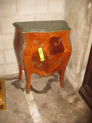 3: French Style Mini Bombay Chest with Marble Top...