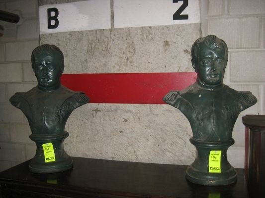 4A: Pair of Figural Busts