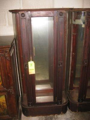 5: Pair of Antique Curio Cabinets ...