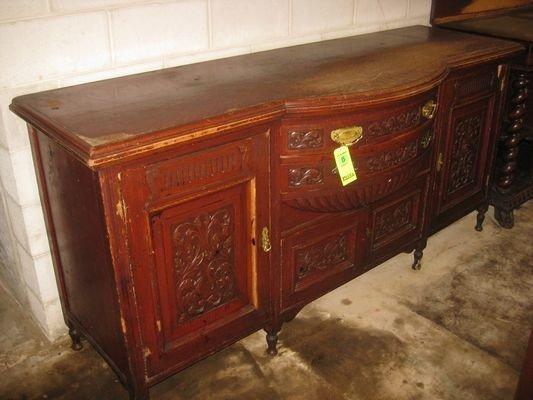 15: Antique Ornatley Carved Sideboard...