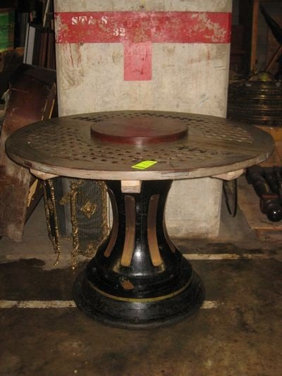 70: Captain's Table with Wooden Base