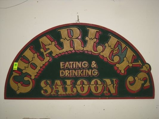 400: Charley's Eating and Drinking Saloon Sign