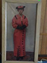Kurt Sluizer (American 1911-1908). Standing Woman in
