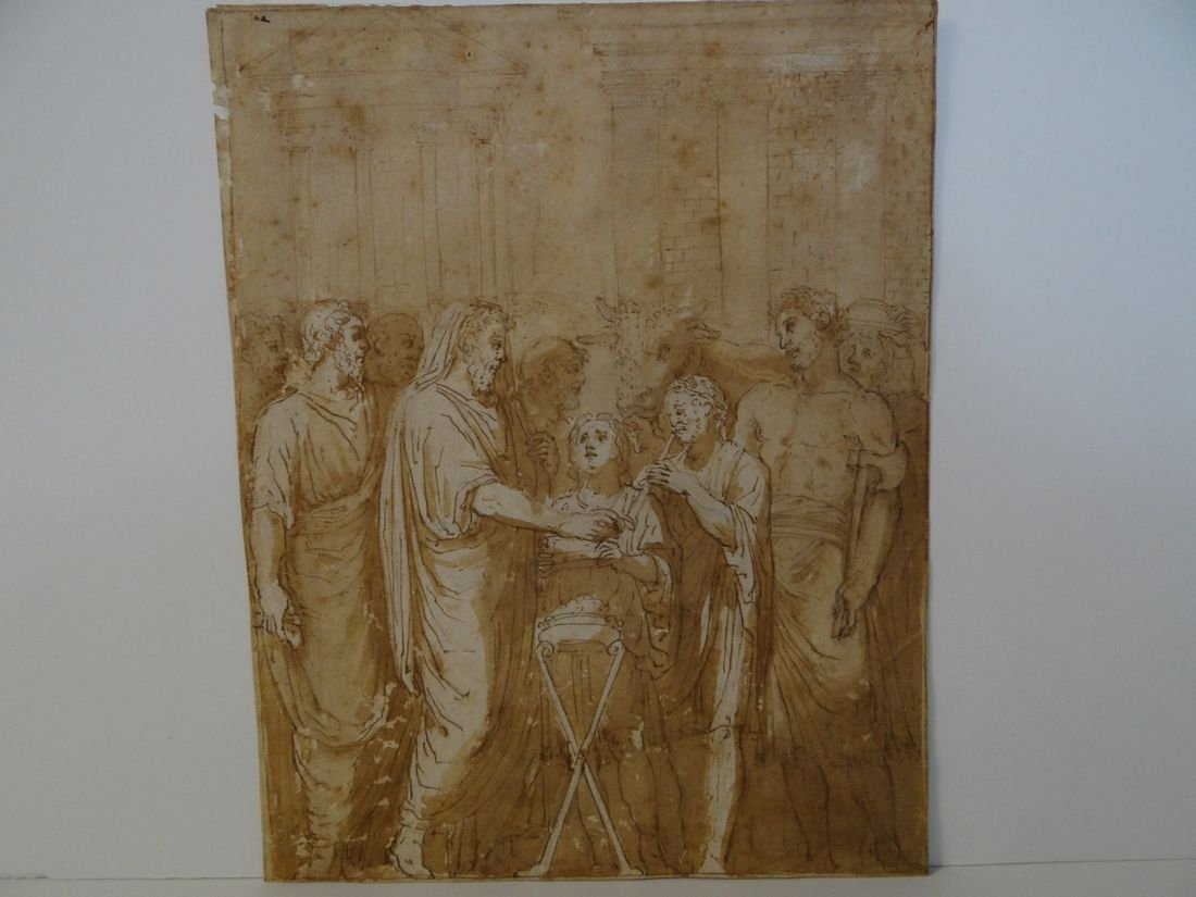 18th Century Old Master Drawing. Italian Classical