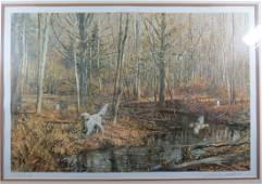 Robert Abbett Hunting Framed Print Titled Setter and