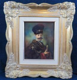 Henrich Selb Painting on Porcelain Framed Rembrandt