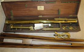19th Century G. Dollond English Brass Telescope with