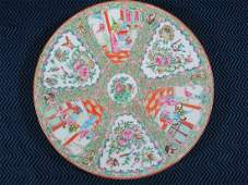 19th Century Chinese Rose Medallion Charger 13.5