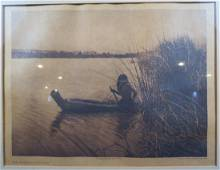 Edward Curtis Photogravure The Hunter Lake Pomo