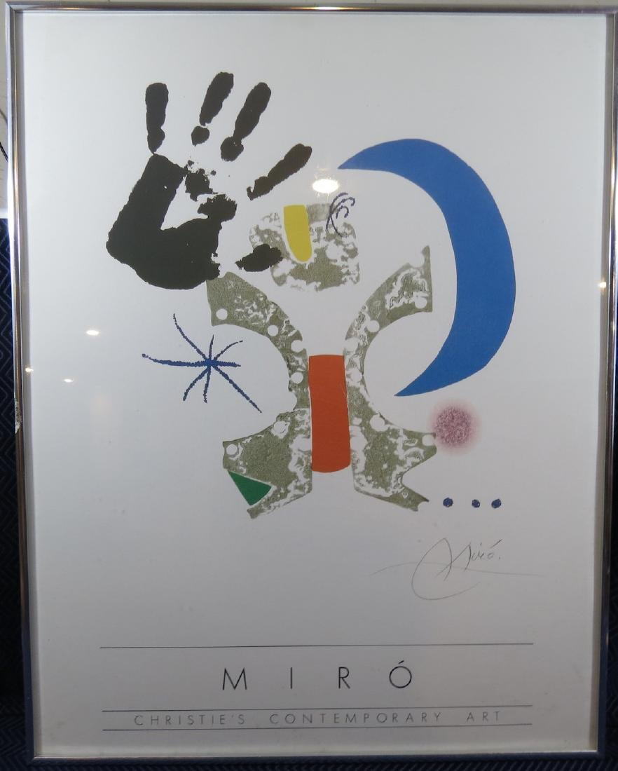 Joan Miro Lithograph For Christies Auction of Artwork