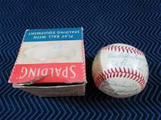1949 Cincinnati Reds Team Signed Baseball