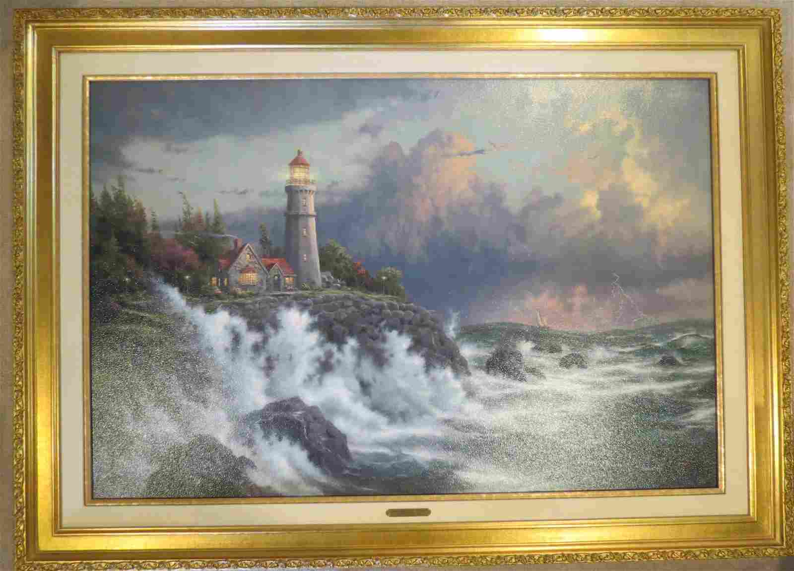 Thomas Kinkade Conquering the Storms AP on Canvas