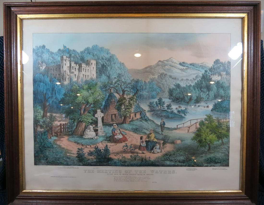 Currier and Ives The Meeting of the Waters Ireland