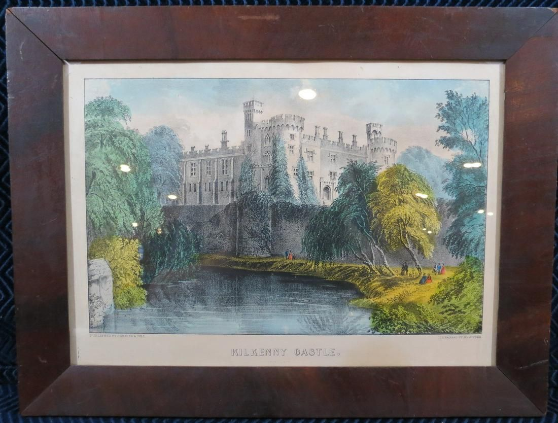 Currier and Ives Kilkenny Castle Ireland Lithograph