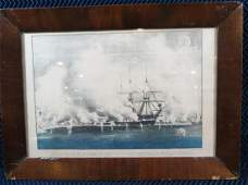 Currier and Ives Civil War Victorious Bombardment