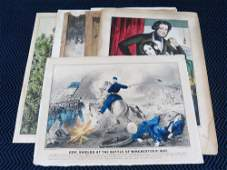 (8) 19th Century Currier and Ives Lithographs w/ Civil