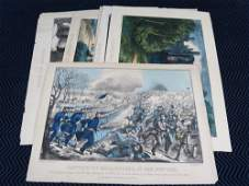 8 19th Century Currier and Ives Lithographs w Civil