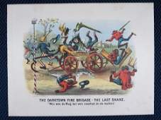 Currier and Ives The Darktown Fire Brigade The Last