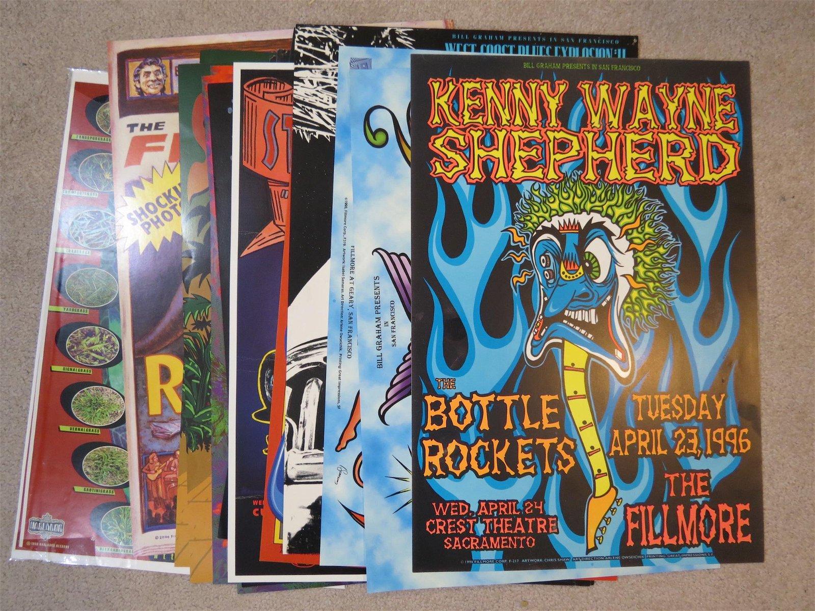 (18) Bill Graham Rock n Roll Posters