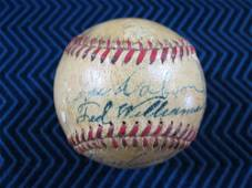 1942 Boston Red Sox Team Signed Baseball