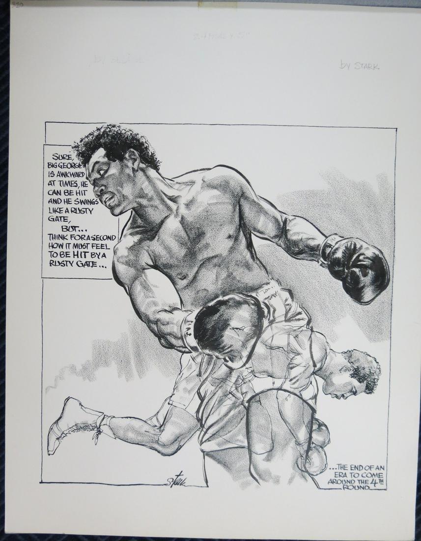 Bruce Stark Original Artwork: Muhammad Ali vs Foreman