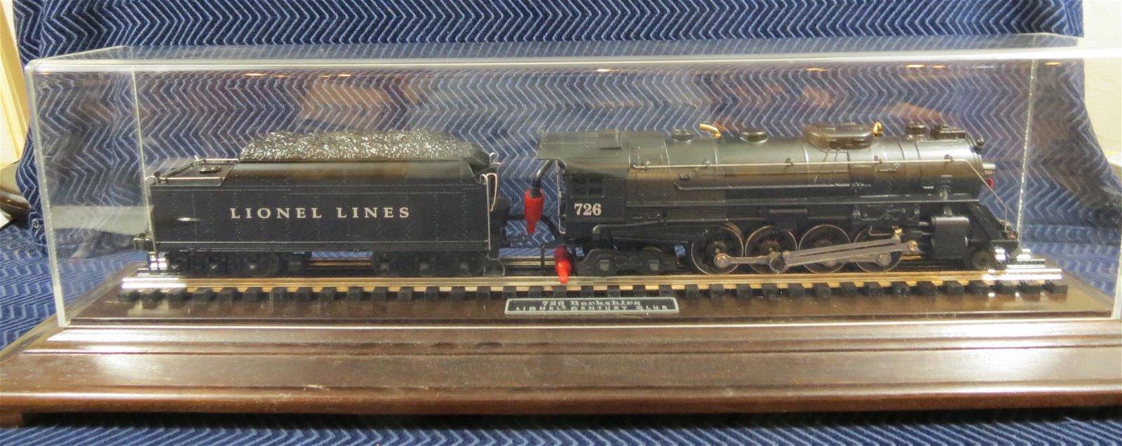 Lionel 726 Berkshire Century Club Locomotive Display