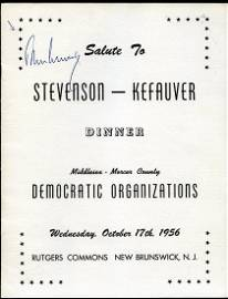 1956 John F Kennedy JFK Signed Program PSA/DNA