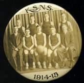 1914/15 Kansas State Basketball Celluloid Pocket Mirror