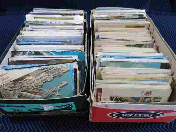 (2) Shoeboxes Full of Vintage Postcards