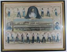 1865 James Creighton Baseball Woodcut Print