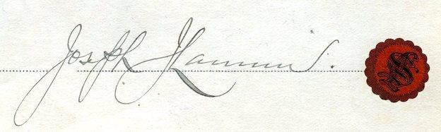 1914 Joseph Lannin Signed Red Sox Baseball Document