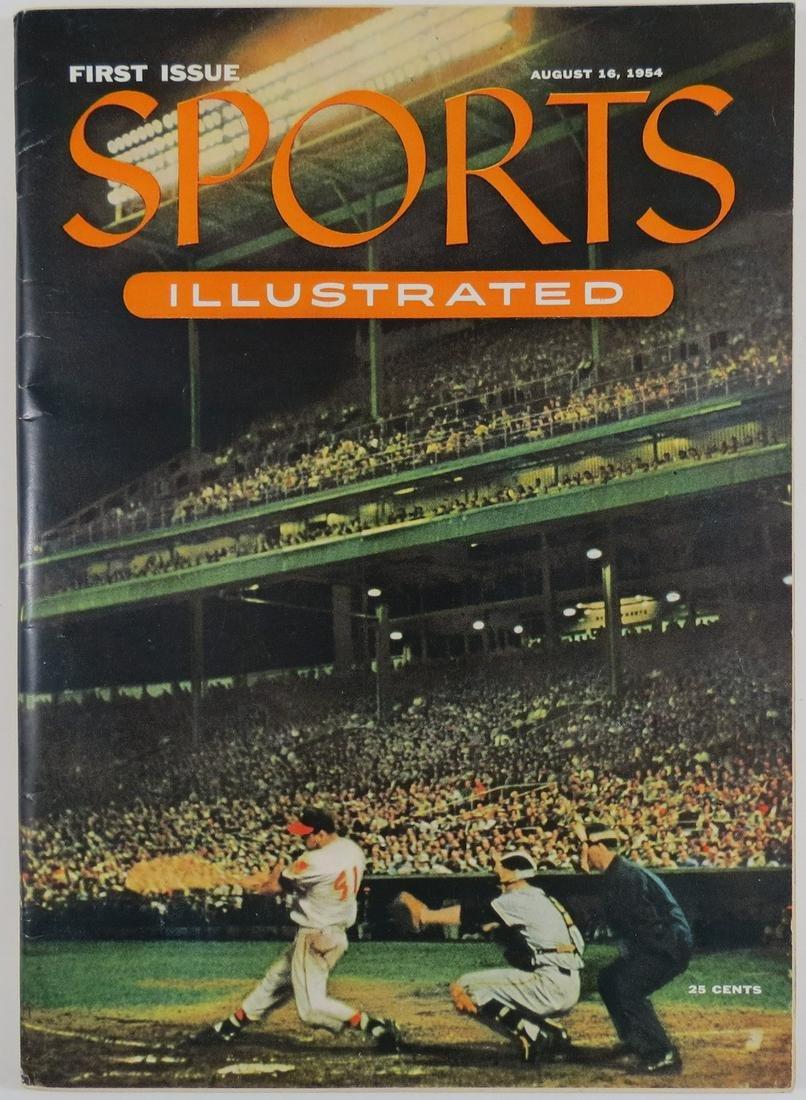 1954 Sports Illustrated #1 Magazine with Baseball Cards