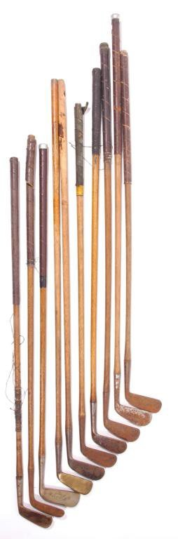 6: (8) Early Wood Shafted Golf Clubs