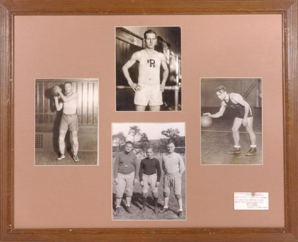 8: 1920's Ivy League Basketball / Football Photo Disp