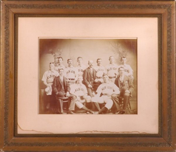 10: 1880's Albion Imperial Sized Baseball Cabinet Phot