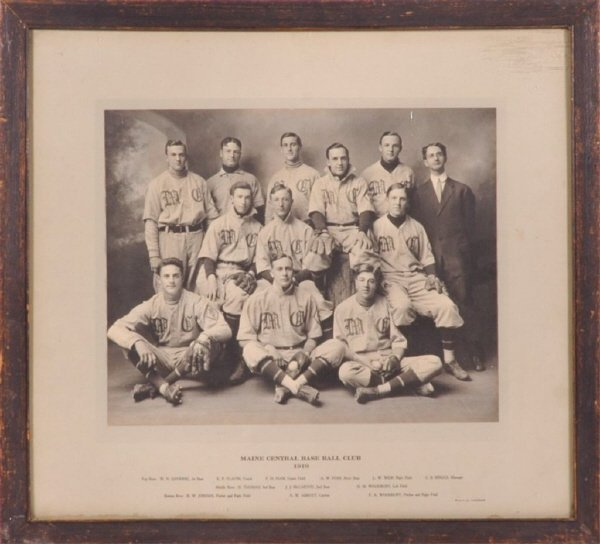 11: 1910 Maine Central Baseball Team Imperial Cabinet