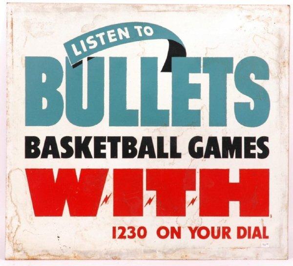 14: 1940's Baltimore Bullets NBA Basketball Lithograph