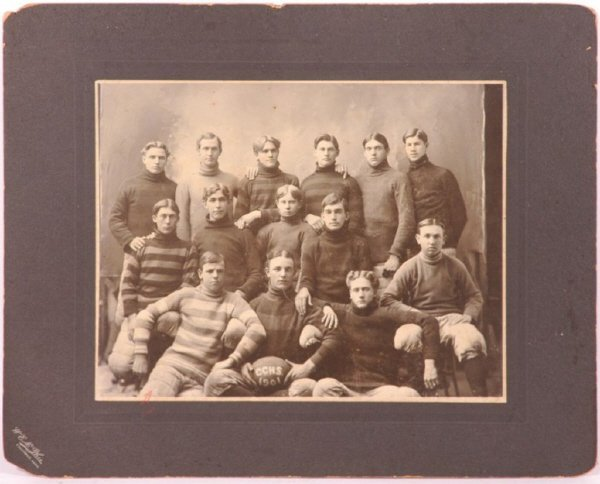 15: 1901 CCHS Imperial Sized Football Cabinet Photo fr