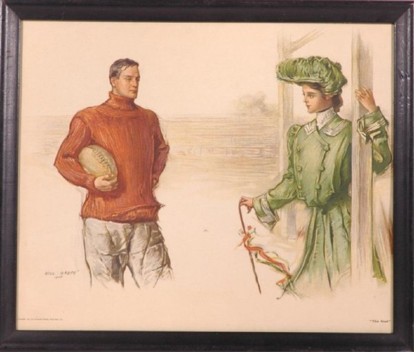 "16: 1905 ""The Goal"" Football Color Print"