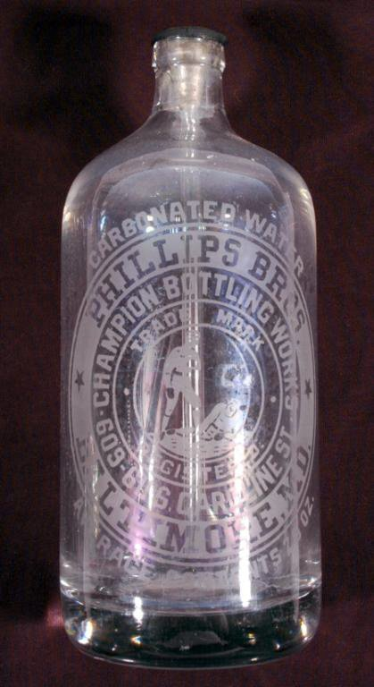 22: Phillips Bros Baltimore MD Carbonated Water Glass