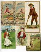 102: (12) 19th Century Sports Trade Cards with Baseball