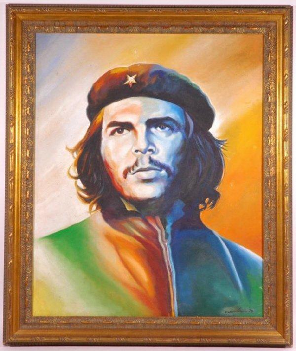 131: Che Guevara Original Oil Painting from Cuba