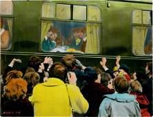 157: 1964 The Beatles Hard Days Night Lobby Card Origin