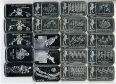180: (20) Ltd Ed 1 oz Silver Bars from 1970's
