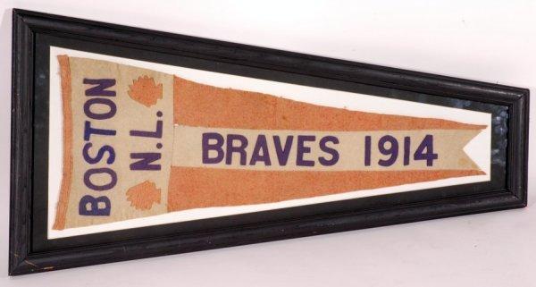1: 1914 Boston Braves Baseball Large Pennant